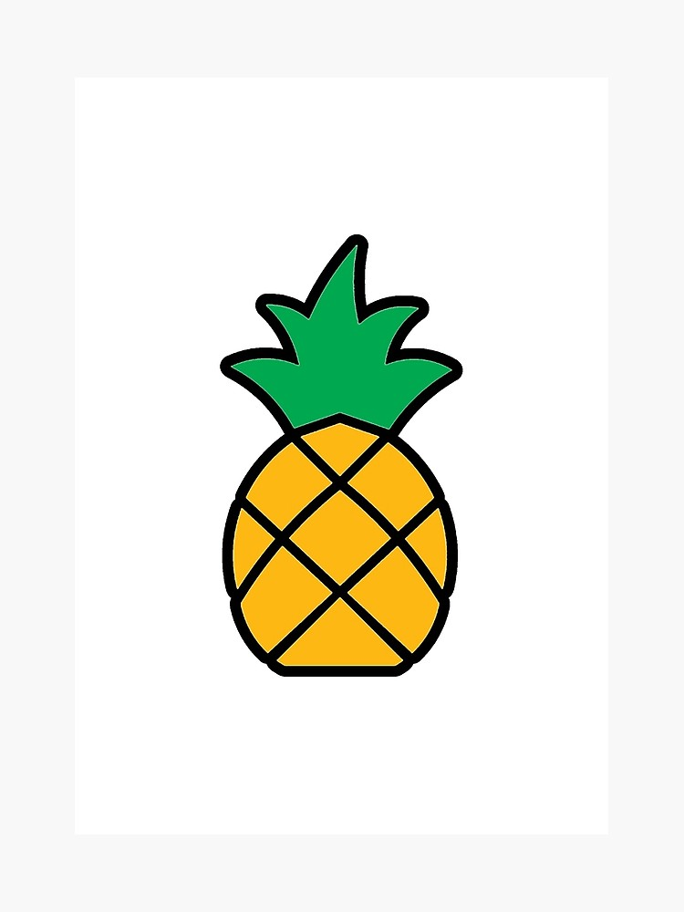 Clipart pineapple simple. Drawing free download best