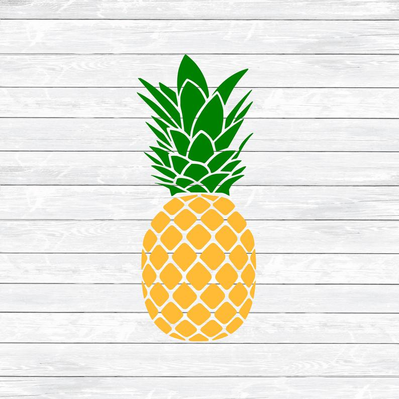 Svg summer fruit pneapple. Clipart pineapple simple