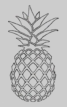 Drawing google search art. Clipart pineapple sketch