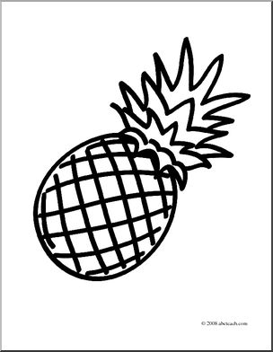 Line drawing free download. Clipart pineapple sketch