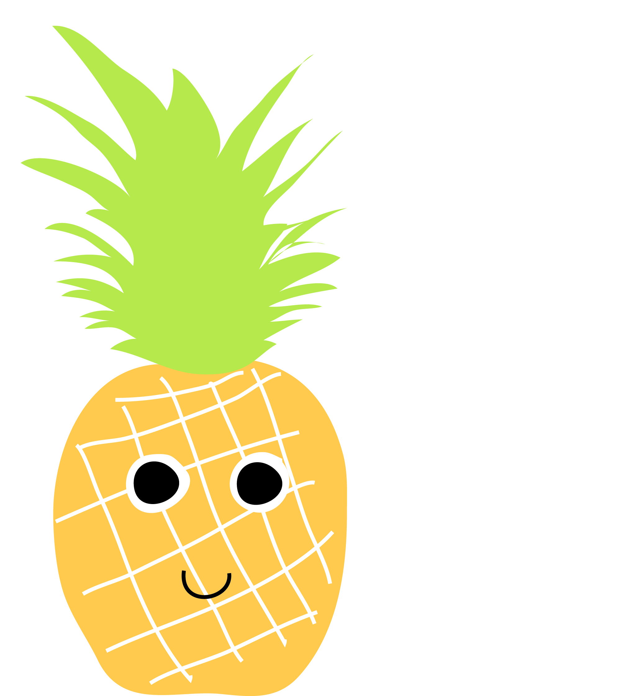 Free cartoon download clip. Pineapple clipart smiley face