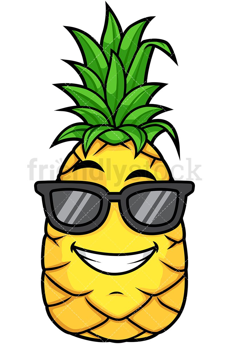 Wearing sunglasses fruit in. Pineapple clipart character