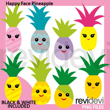 Pineapple clipart smiley face. Happy clip art