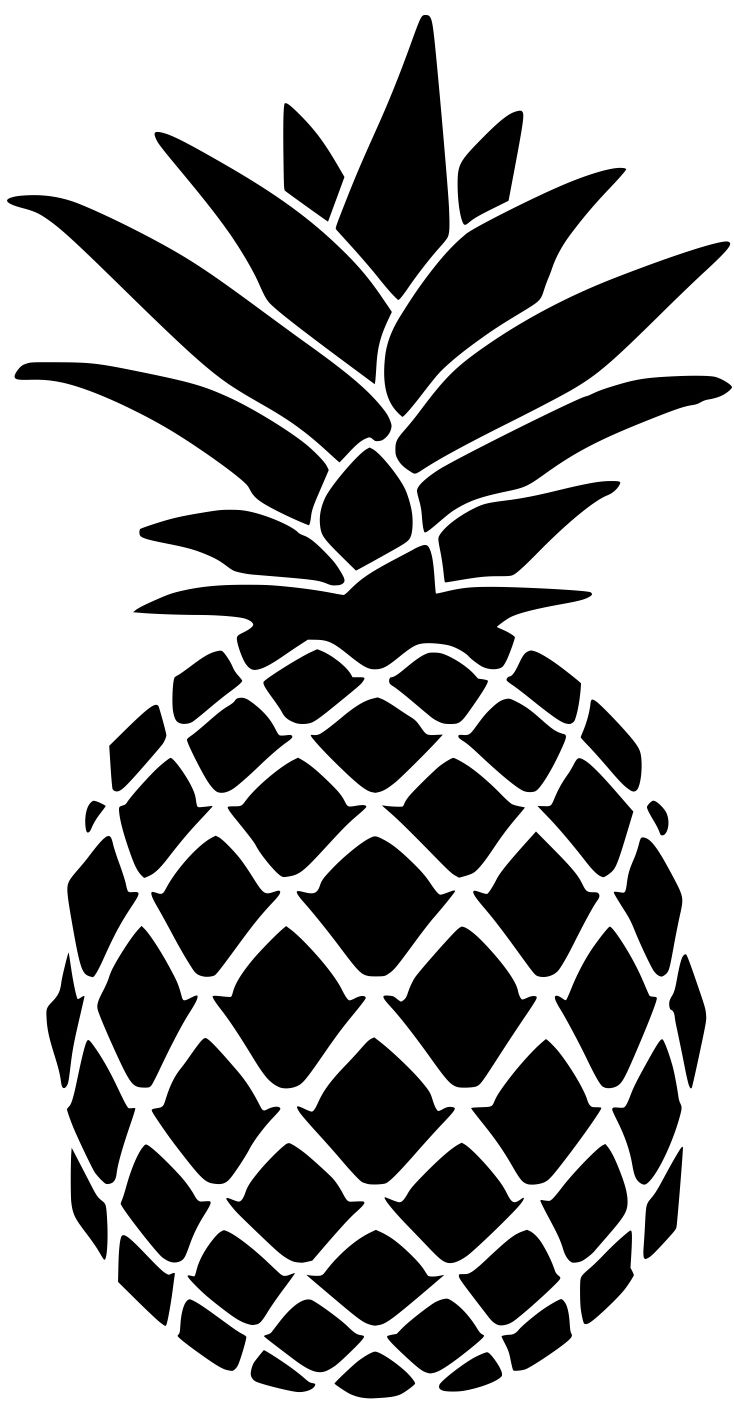 For doormat summer template. Pineapple clipart stencil