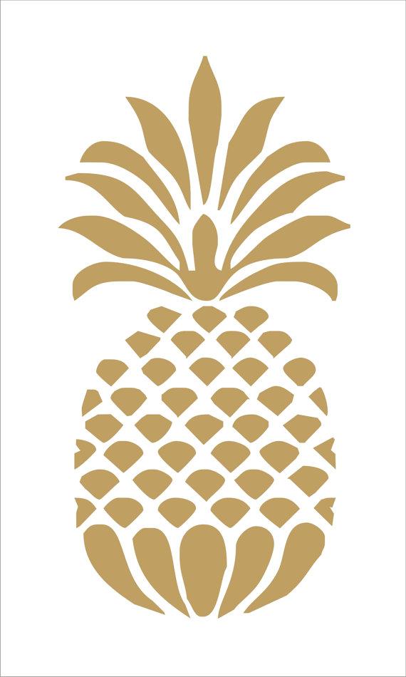 Pin on design . Pineapple clipart stencil