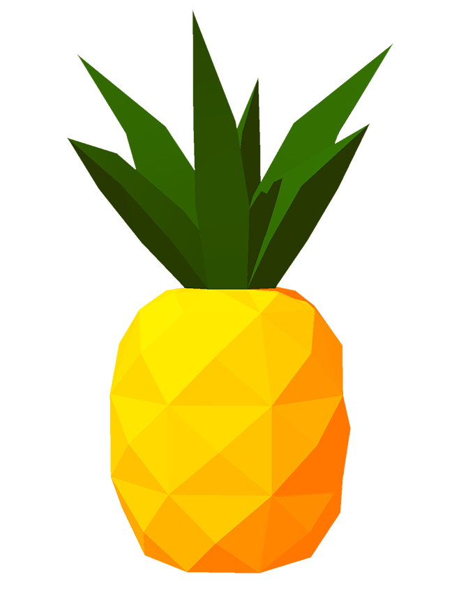 Pineapple clipart sticker. The draw something daily