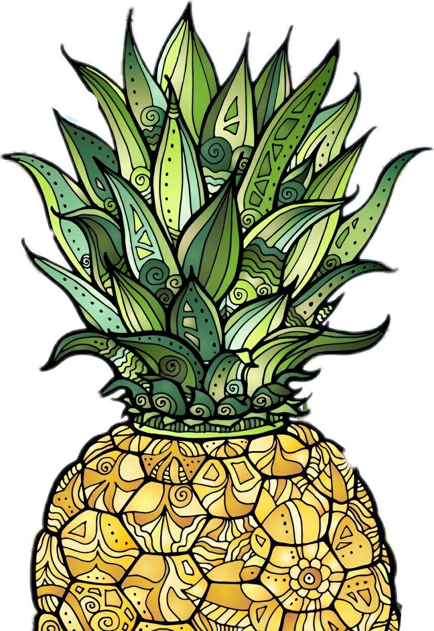 By angelitha cigarruista report. Clipart pineapple sticker