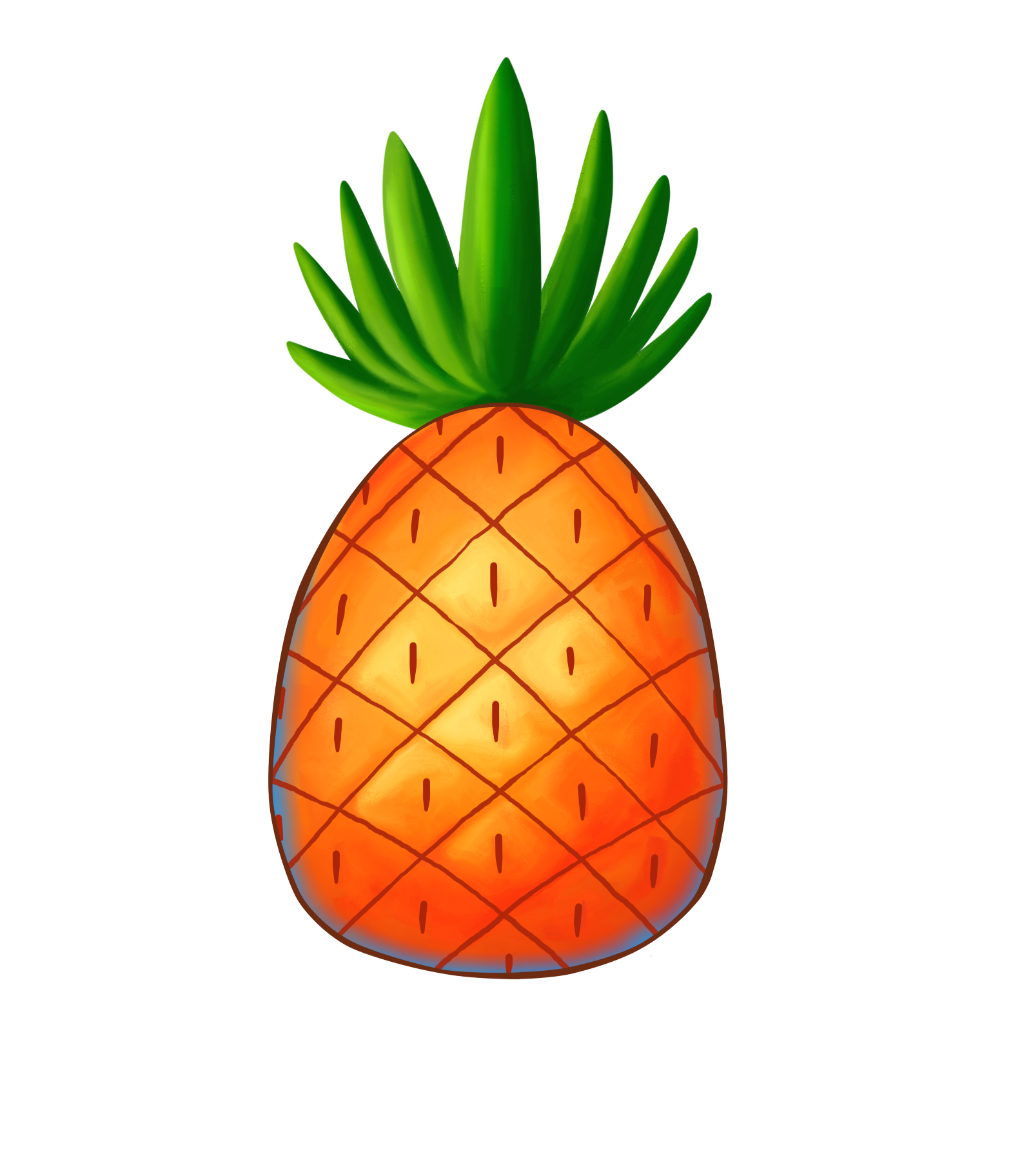Tumblr collage stickers png. Pineapple clipart sticker