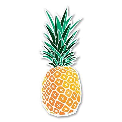 Clipart pineapple sticker. Vinyl car window bumper