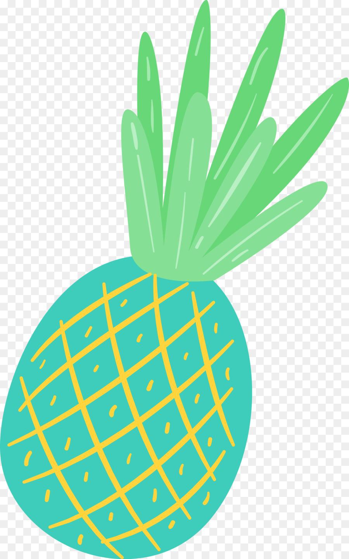 Green background . Clipart pineapple summer