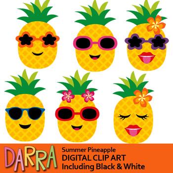 Clip art . Pineapple clipart summer
