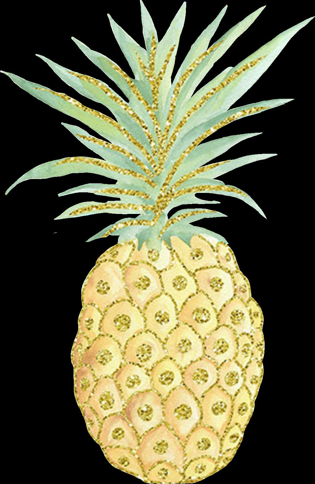 Pineapple clipart glitter. Summer pi a sticker