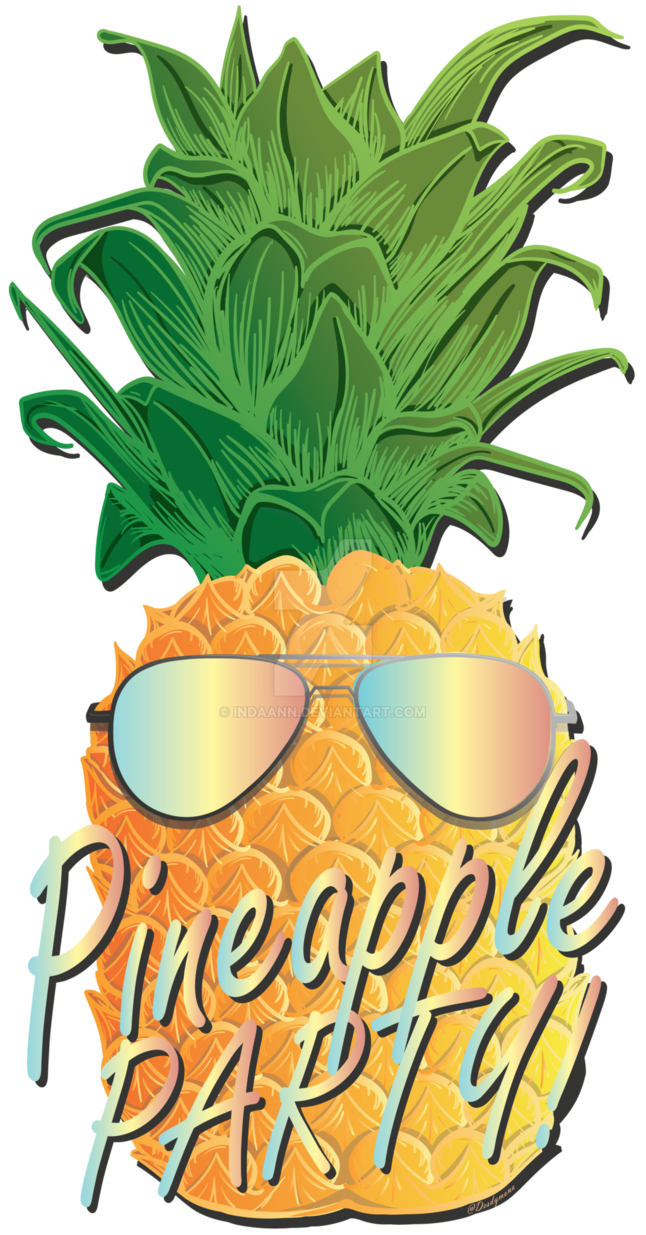 Clipart pineapple sunglasses. By indaann on deviantart