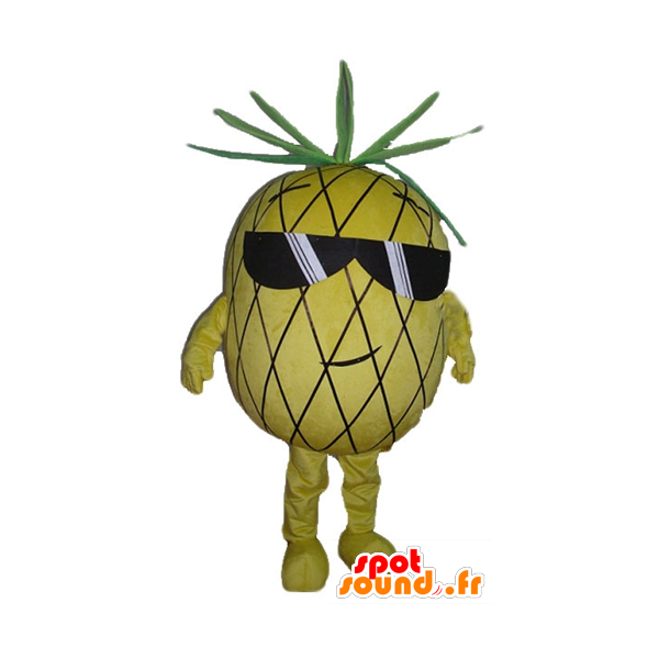Clipart pineapple sunglasses. Purchase mascotte yellow and