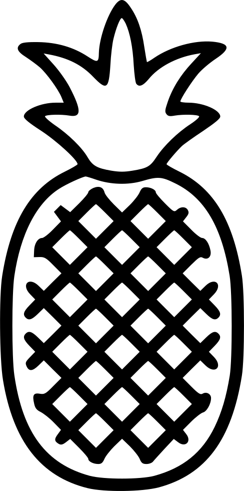 pineapple clipart symmetrical