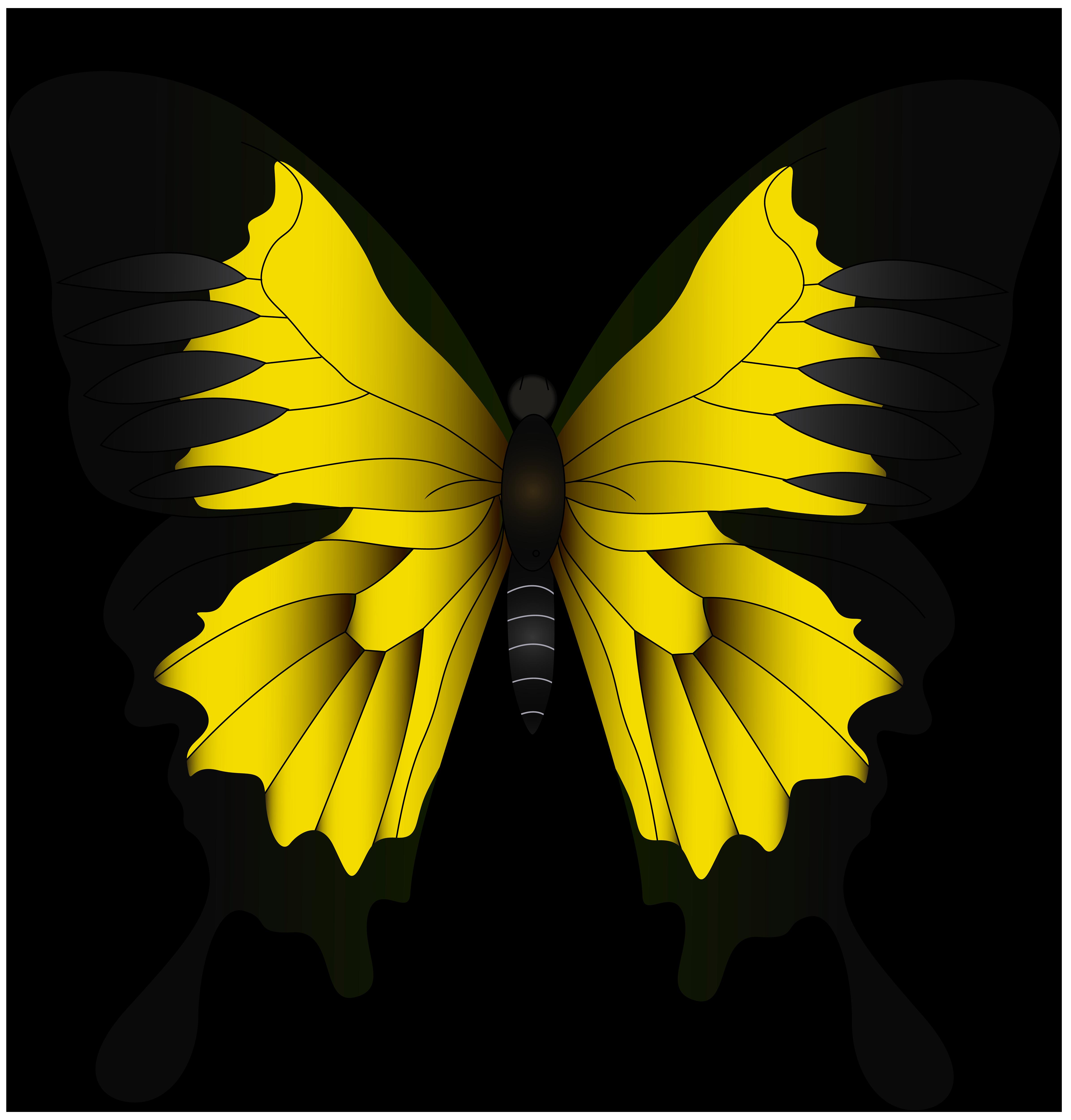 Pineapple clipart symmetrical. Monarch butterfly green yellow