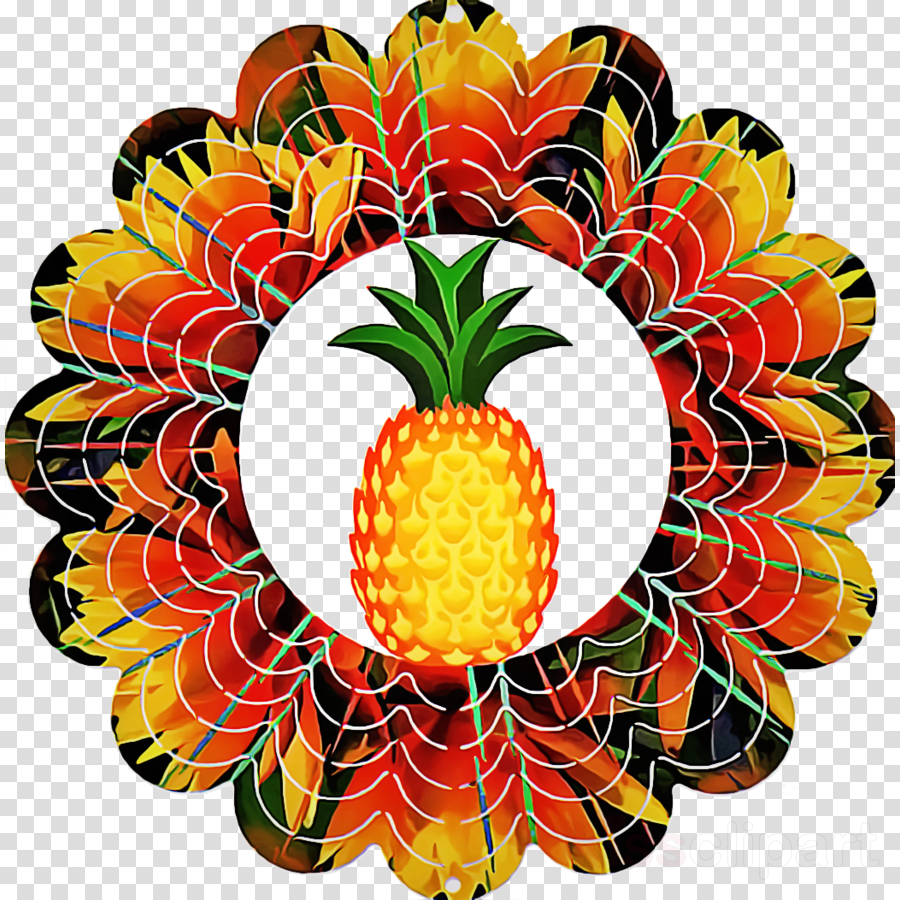 Fruit ananas transparent . Clipart pineapple symmetrical