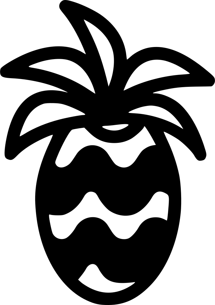 Svg png icon free. Pineapple clipart symmetrical
