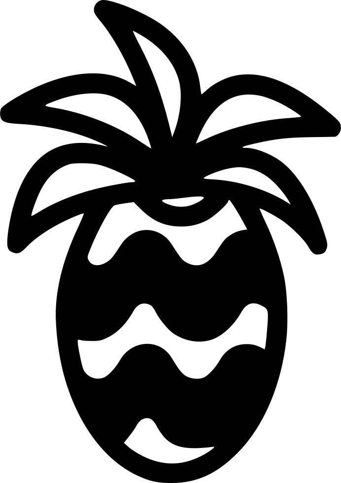 pineapple clipart symmetrical