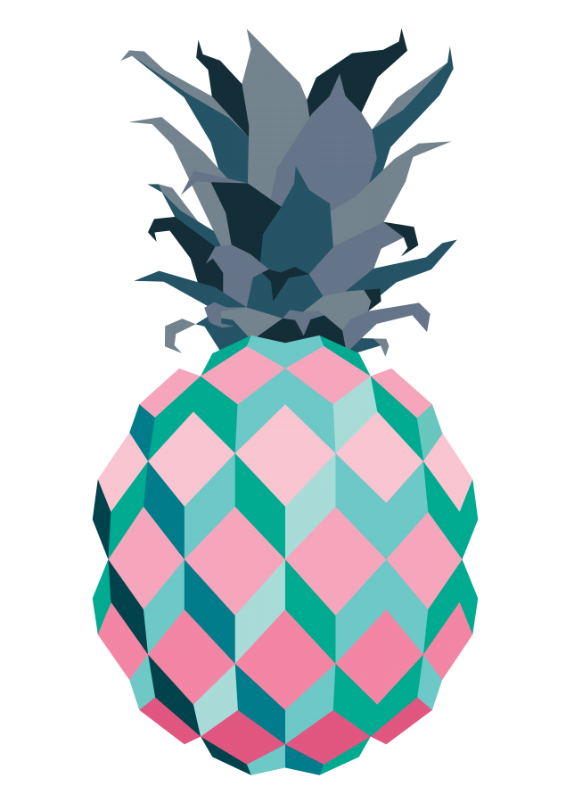 Graphic design kelly jade. Pineapple clipart teal