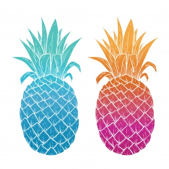 X free clip art. Pineapple clipart teal