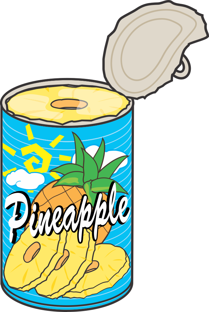 Pineapple clipart teal. Onlinelabels clip art can