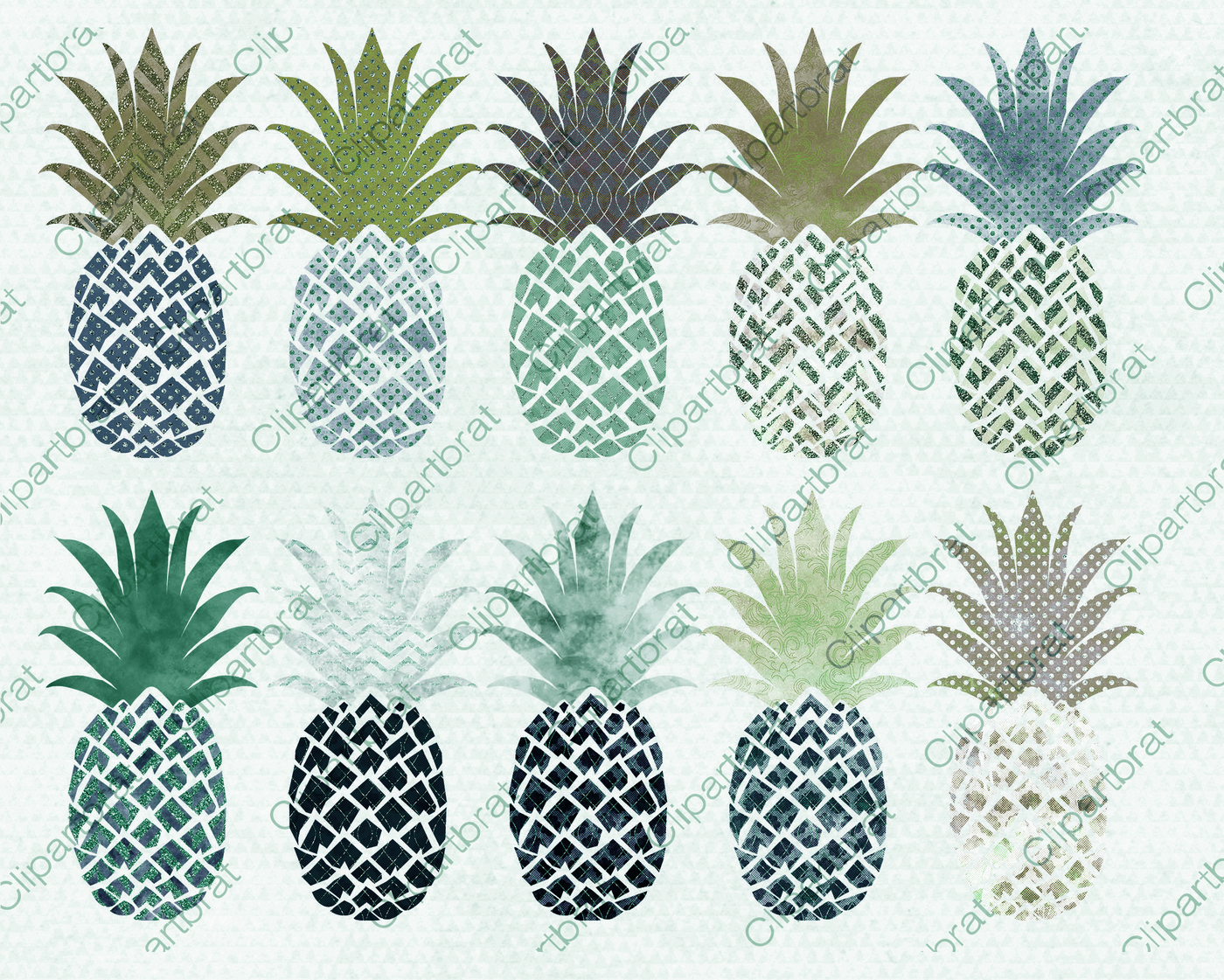 Navy blue by clipartbrat. Pineapple clipart teal