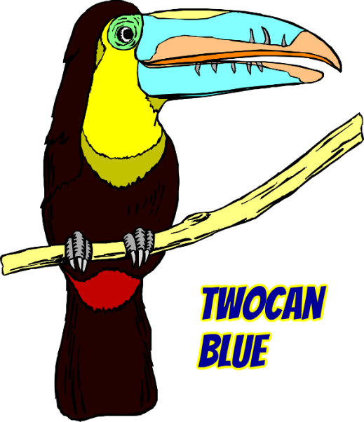 Twocan blue live at. Clipart pineapple toucan