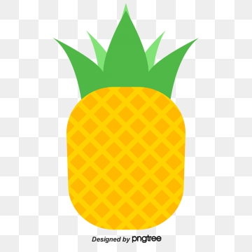 Pineapple clipart vector. Png psd and with