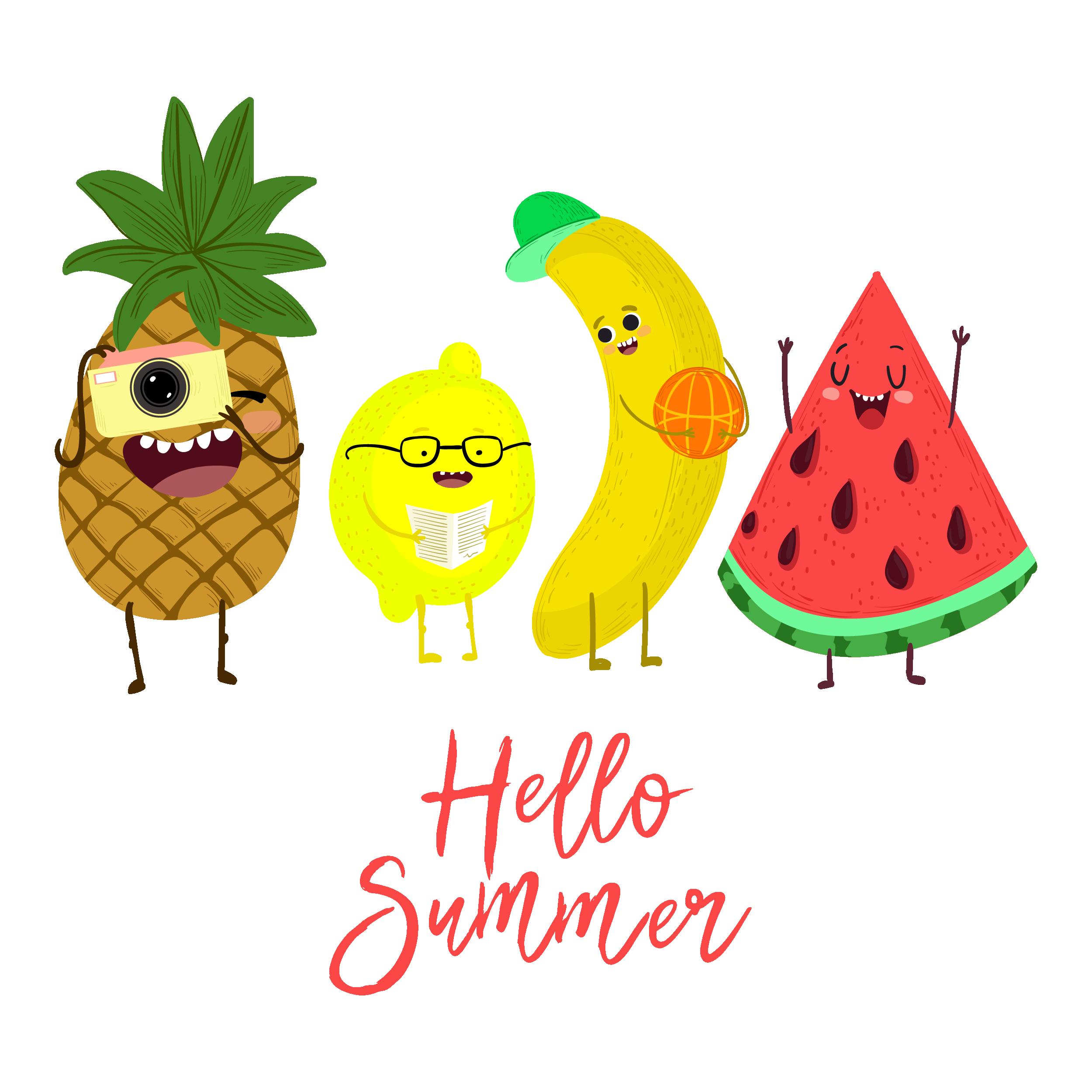 Pineapple clipart watermelon. Download summer cute creative
