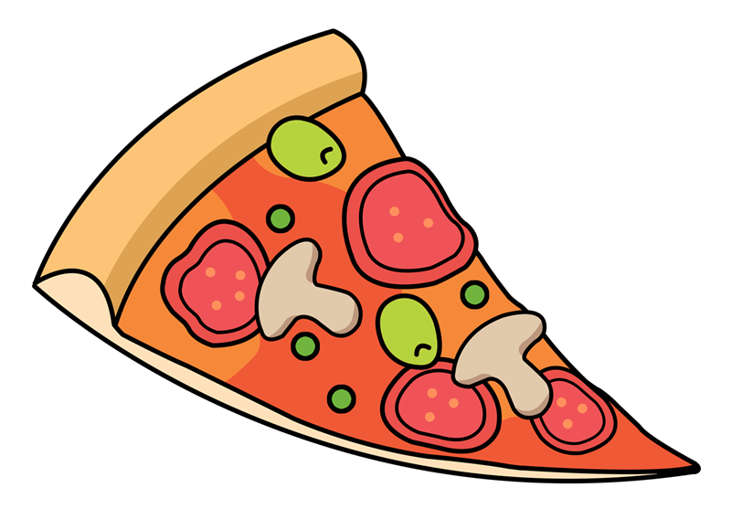 Slice panda free images. Heart clipart pizza