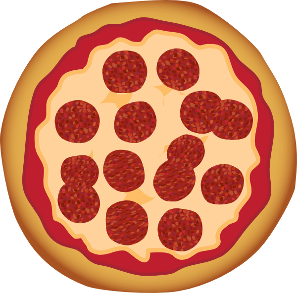 Food clipart pizza. Pepperoni clip art at