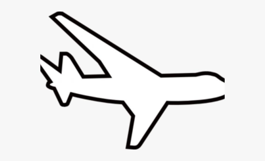 Black and white clip. Clipart plane airplane