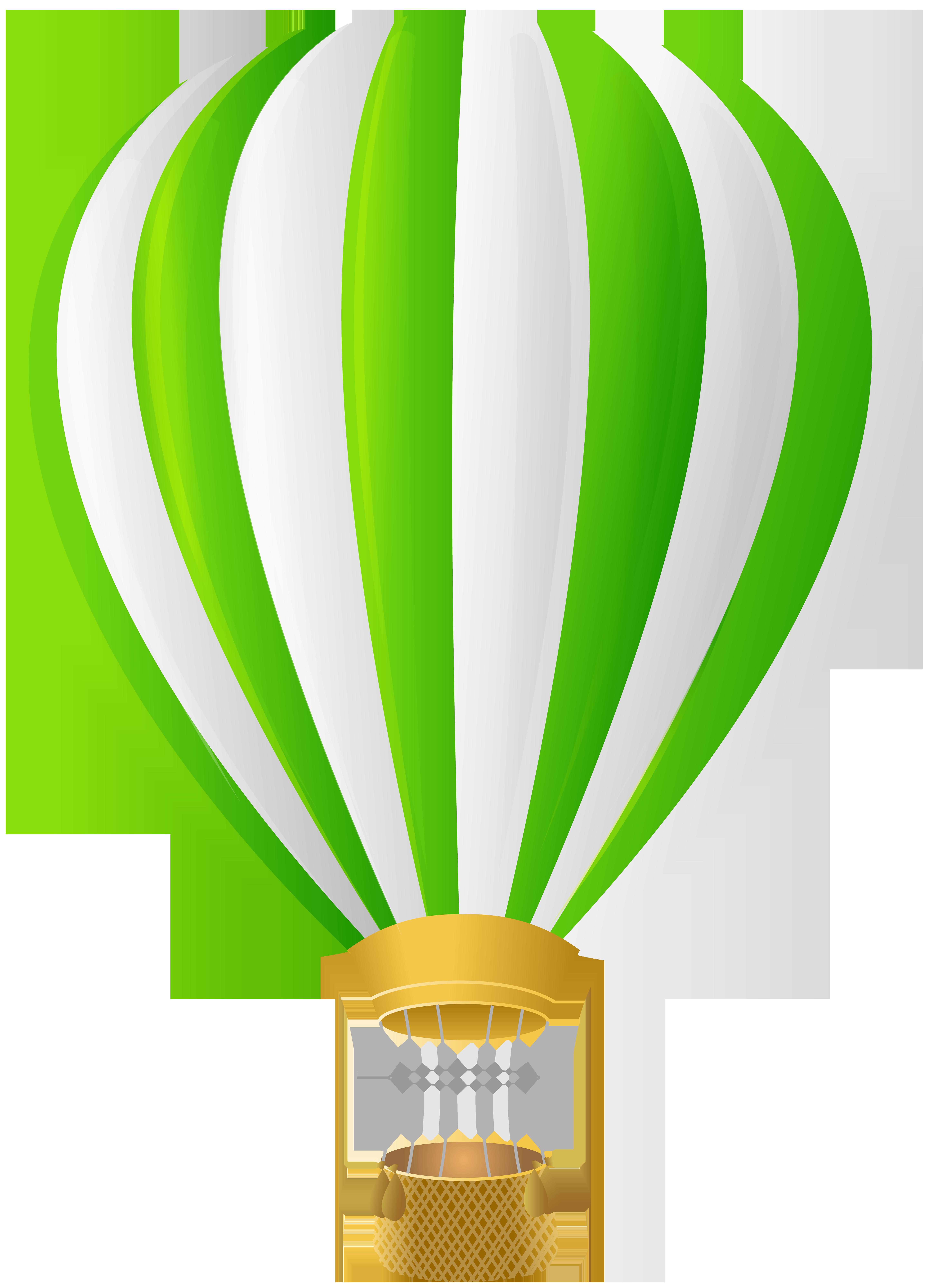 Green hot air transparent. Clipart plane balloon