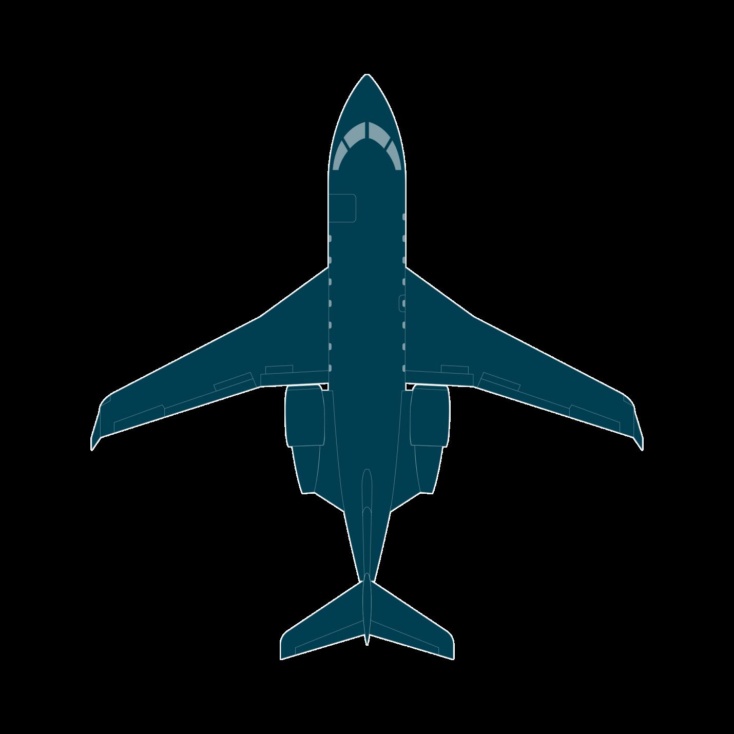 Jet top view