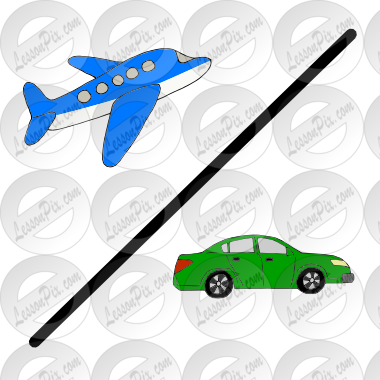 Picture for classroom therapy. Clipart plane car