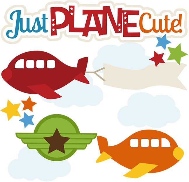 Just svg files for. Clipart plane cute