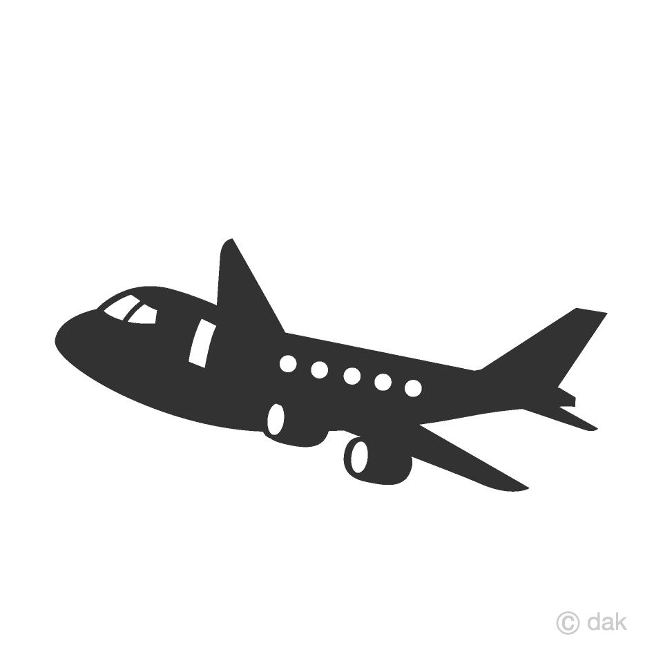 Clipart plane cute. Silhouette free picture illustoon