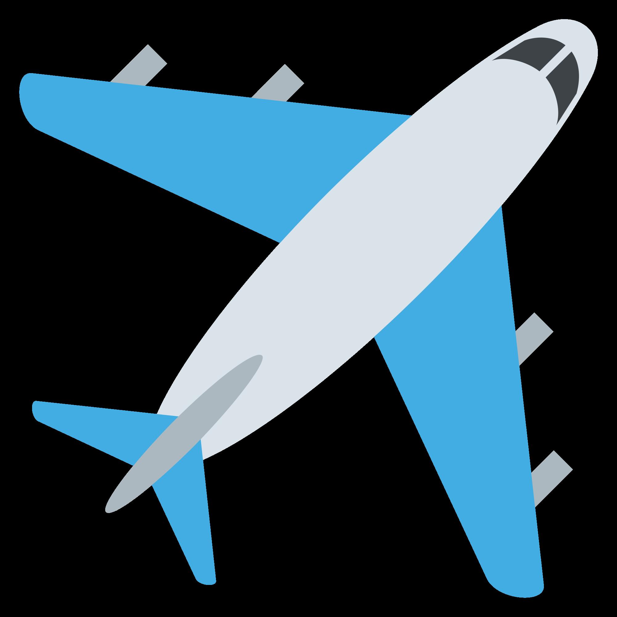 Emoji clipart plane. File emojione svg wikimedia