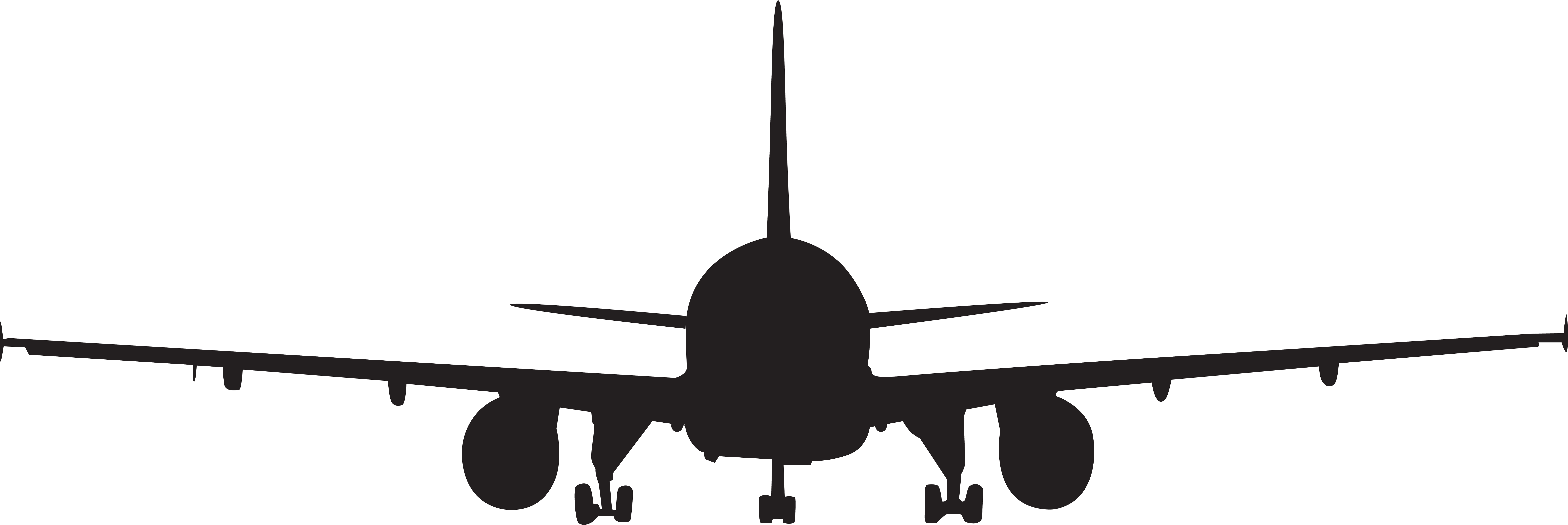 Airplane silhouette clip art. Clipart plane front