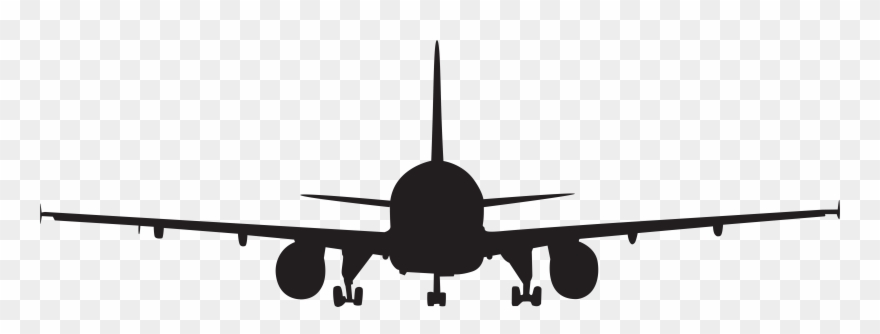 Clipart plane front. Airplane silhouette clip art