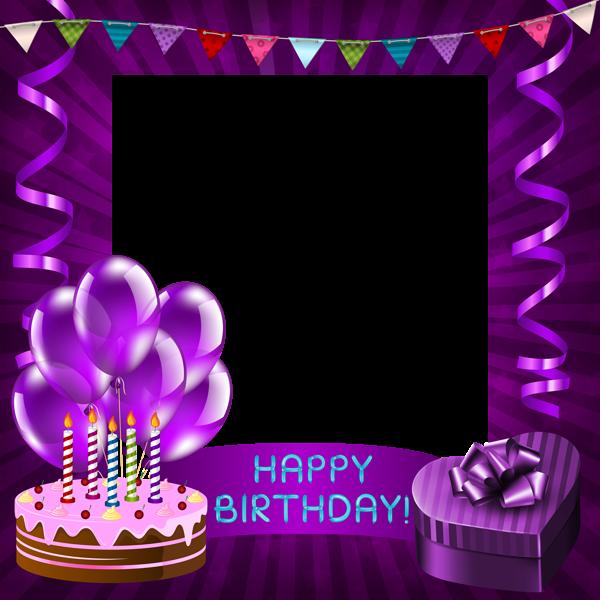Plane clipart happy birthday. Purple transparent png frame