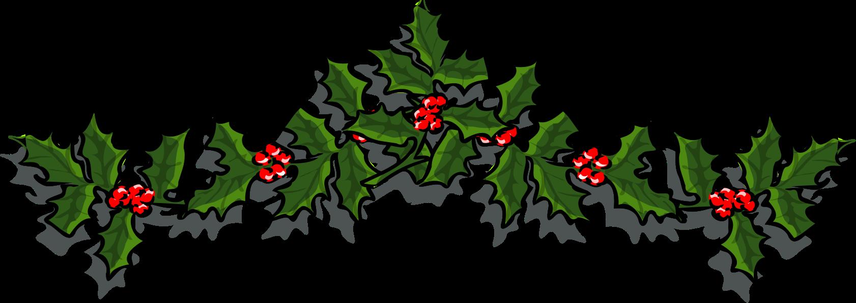 Holiday holly big image. Holidays clipart branch