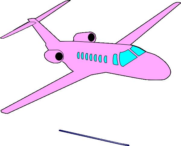 Clipart plane pink. Clip art at clker