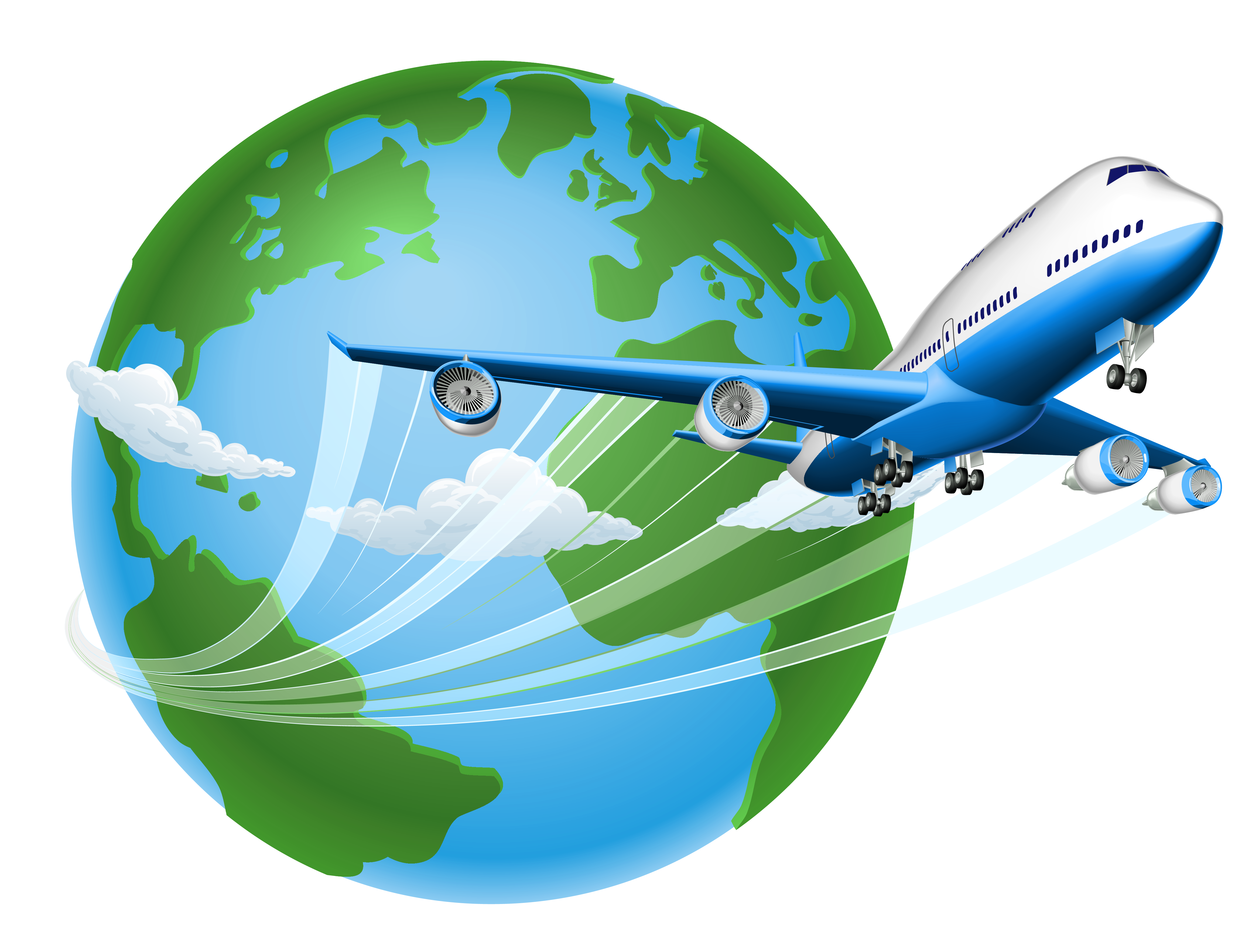 collection of travel. Clipart plane tourist