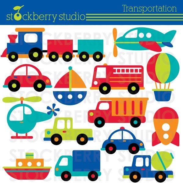 Transportation and automobiles . Plane clipart train