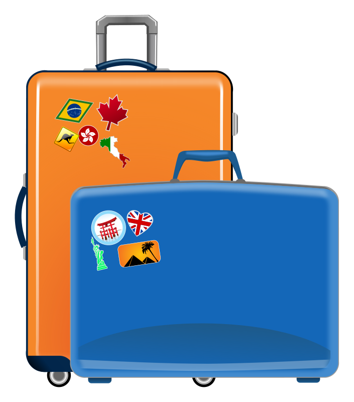 Luggage clipart boy. Vacation clip art pictures