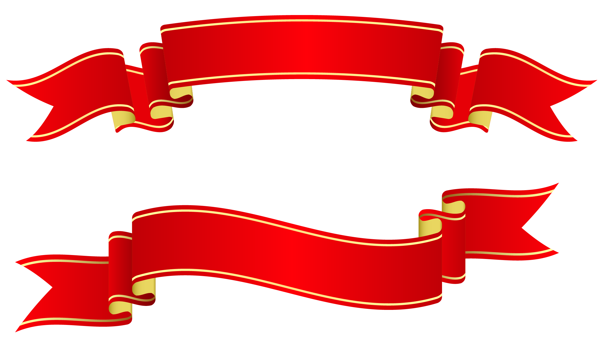 Red banners picture gallery. Clipart png