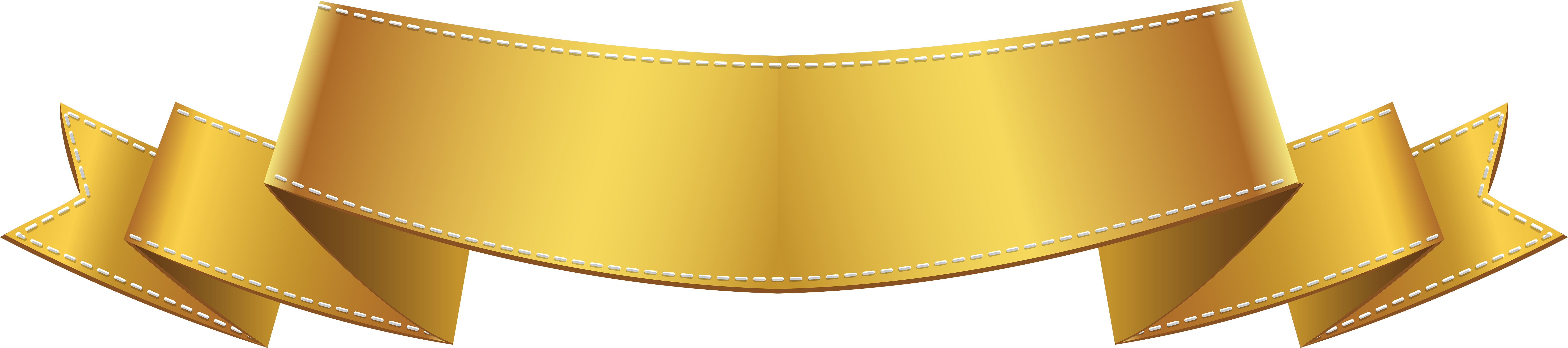 Clipart png banner. Golden clip art image