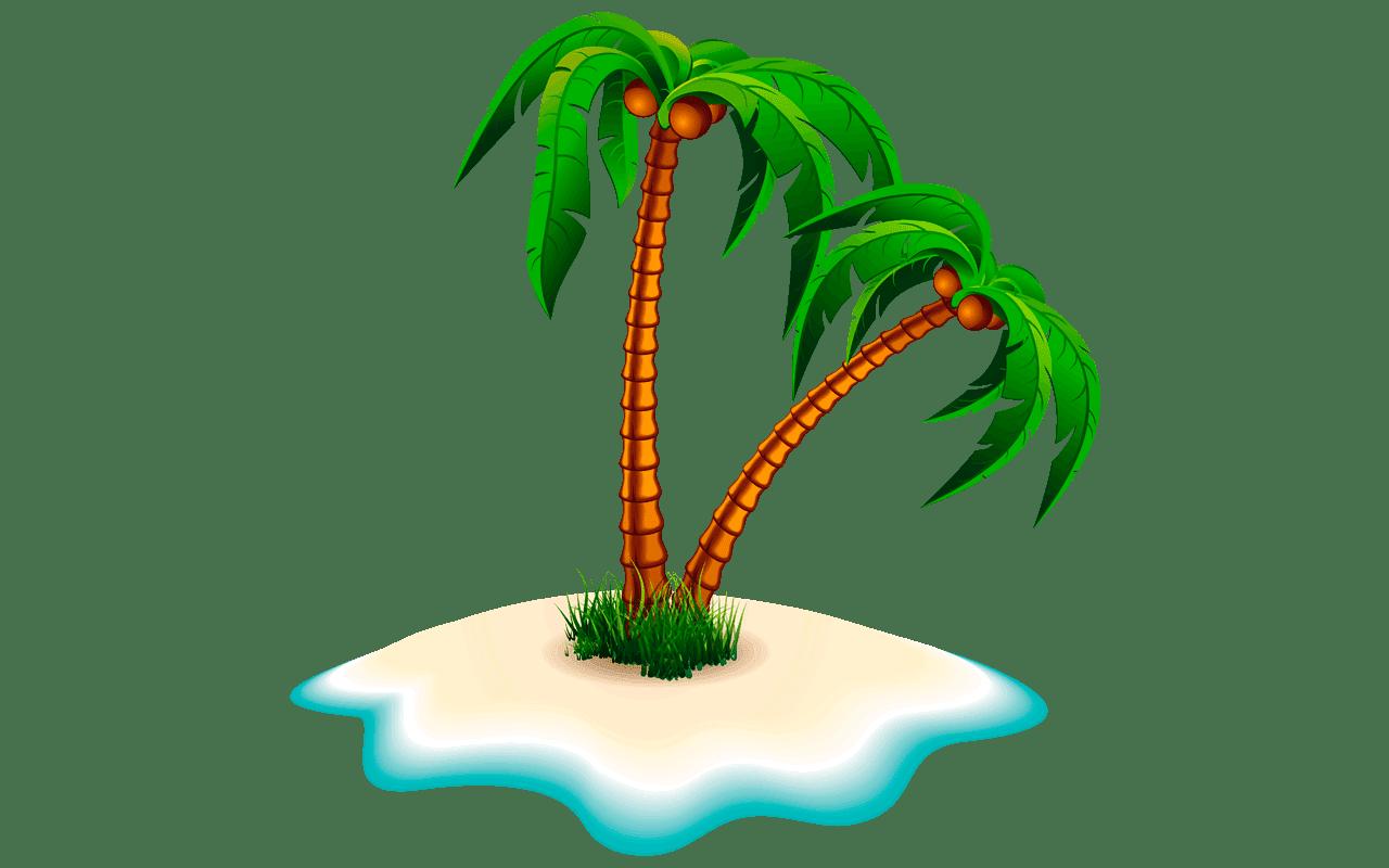 Tree clipart coconut.  free shocking fruit